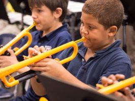 plastic trumpets